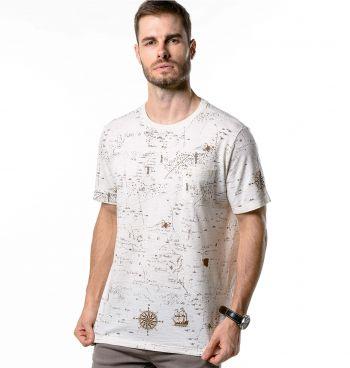 Camiseta Masculina Full Maps