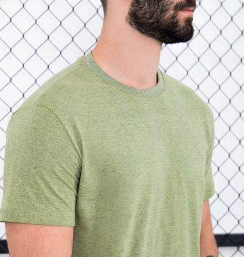 Camiseta Básica Malha Mesclada