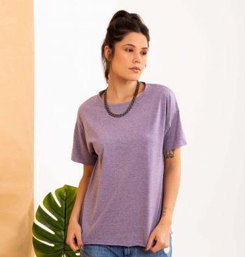 T-Shirt Malha Mesclada A Fio