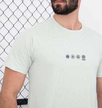 Camiseta Mangas Curtas Up Side Down