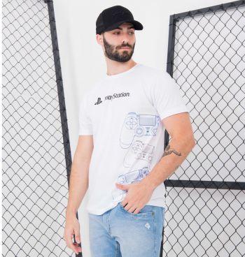 Camiseta Masculina Controles Playstation