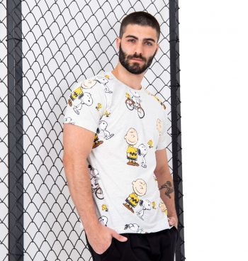 Camiseta Mesclada Full Print Snoopy