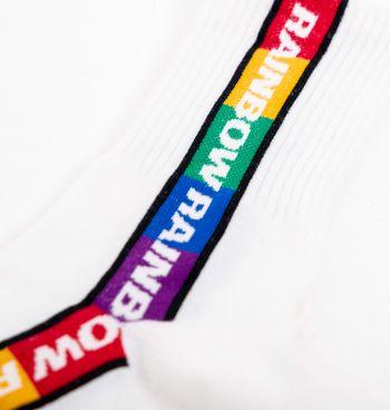 Meia Cano Médio Faixa Rainbow