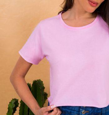 T-Shirt Cropped Corte A Fio