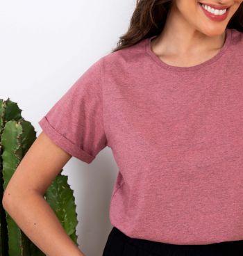 Camiseta Malha Mesclada A Fio