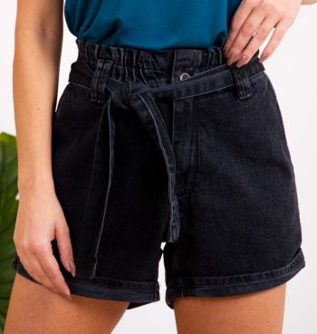 Short Jeans Clochard Com Cinto