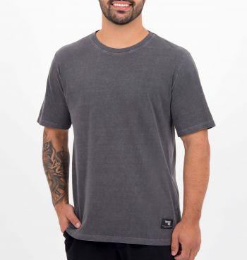 Camiseta Básica Estonada Manga Curta