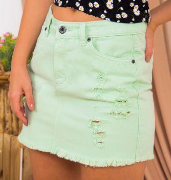 Saia Jeans Color Destroyed