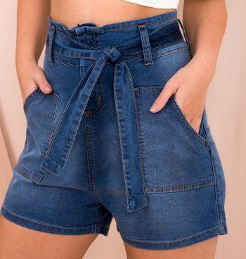 Short Jeans Clochard Bolso Frontal