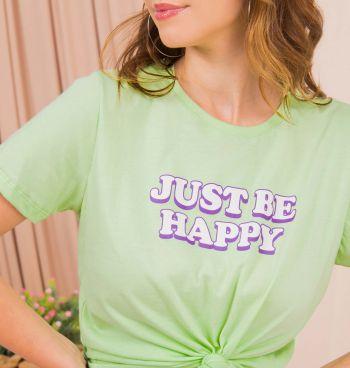 Camiseta Estampa Just Be Happy