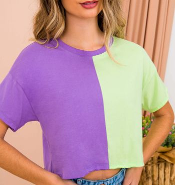 Blusa Cropped Colors