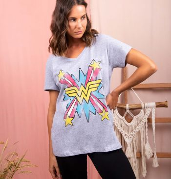 CAMISETA ESTAMPA WONDER WOMAN