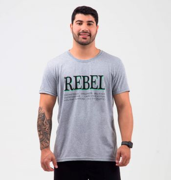 CAMISETA BÁSICA ESTAMPADA REBEL