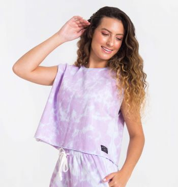 TOP CROPPED OVERSIZED TIE DYE