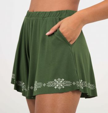 SHORT BARRA ESTAMPADA
