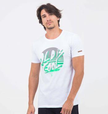 Camiseta Estampada Em Neon Old Is Cool