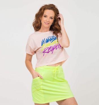 T-Shirt Cropped Estampa Neon