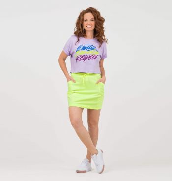 T-SHIRT CROPPED ESTAMPA NEON
