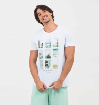 CAMISETA ESTAMPADA LONG BEACH