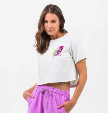 T-SHIRT CROPPED  BACK TO THE DISCO
