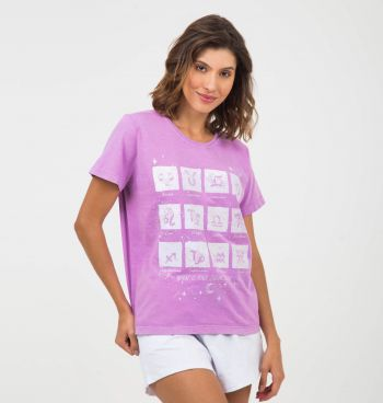 T-SHIRT ESTONADA ESTAMPA SIGNOS