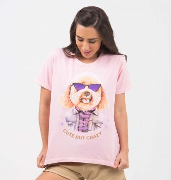 T-SHIRT SOLTA ESTAMPA DOG