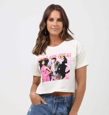 T-SHIRT BOX COM ESTAMPA GIRLS