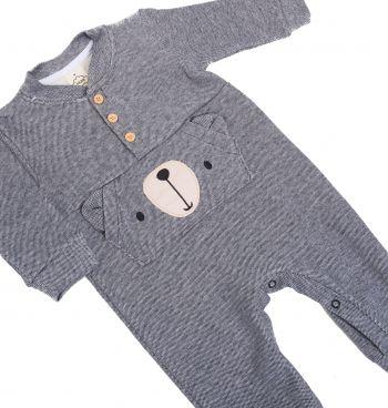 Macacão Infantil Piquet Urso