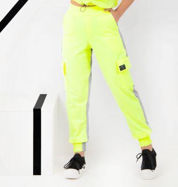 Calça Jogger Moletinho Duo Color Neon