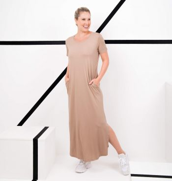 Tee Dress Gola Redonda