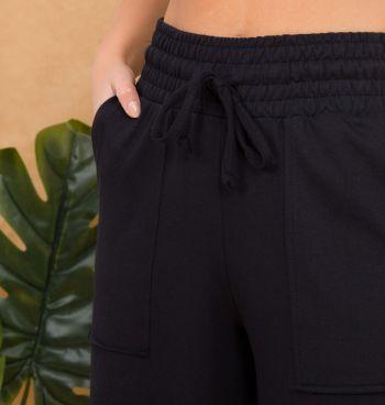 Calça Pantalona Moletinho Bolso A Fio