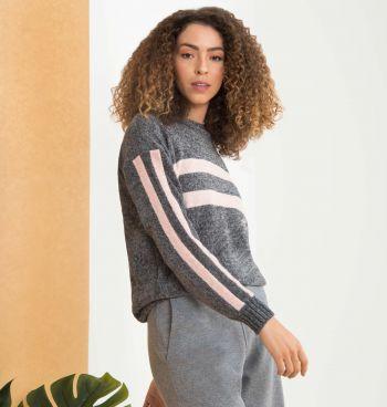 Suéter Tricot Slim Listras