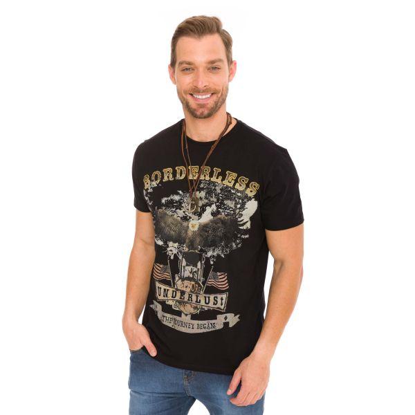 Camiseta Masculina Borderless