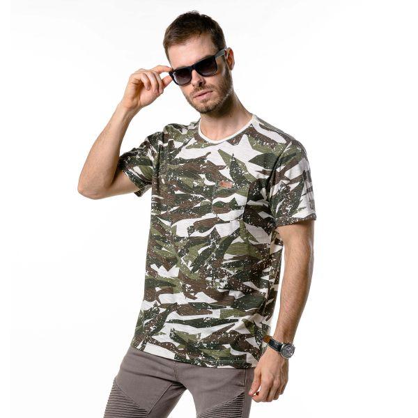 Camiseta Masculina Camuflada