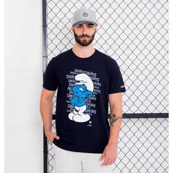 Camiseta Lettering Smurfs