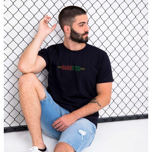 Camiseta Mangas Curtas Gangster Unlimited