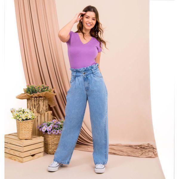 Calça Jeans Clochard Cropped Over