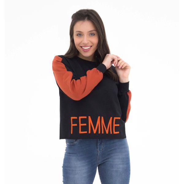Blusão Faixa Bordado Femme