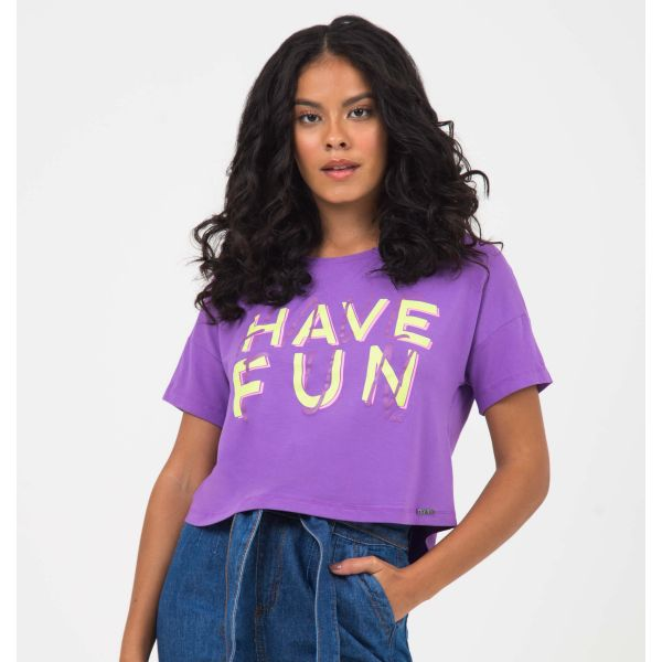 T-Shirt Cropped Have Fun