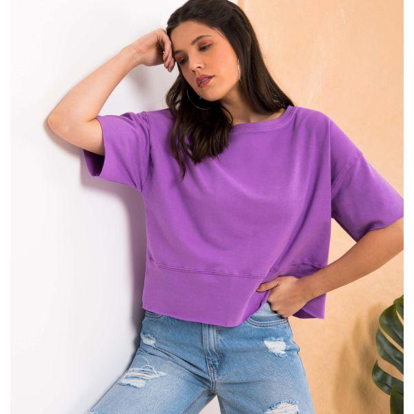 T-Shirt Over Básica a Fio