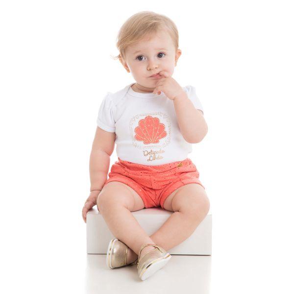 CONJUNTO INFANTIL BODY E SHORT LAISE