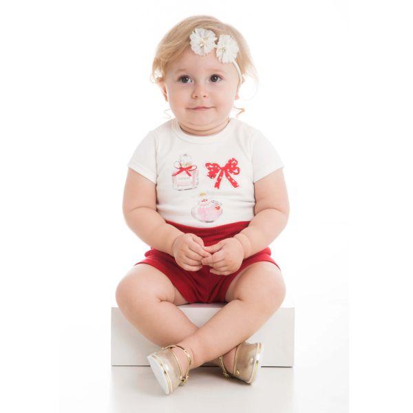 CONJUNTO INFANTIL BODY E SHORT ALFAIATARIA