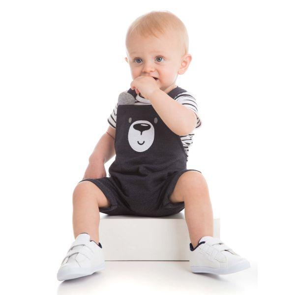Jardineira Infantil Urso