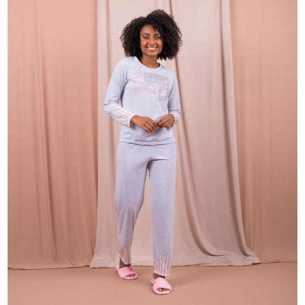 Conjunto Pijama Composê Roses