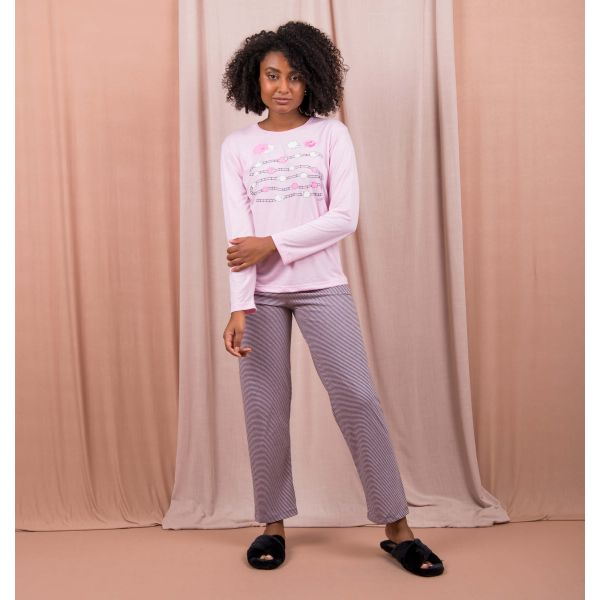 Conjunto Pijama Comfort Carneirinhos