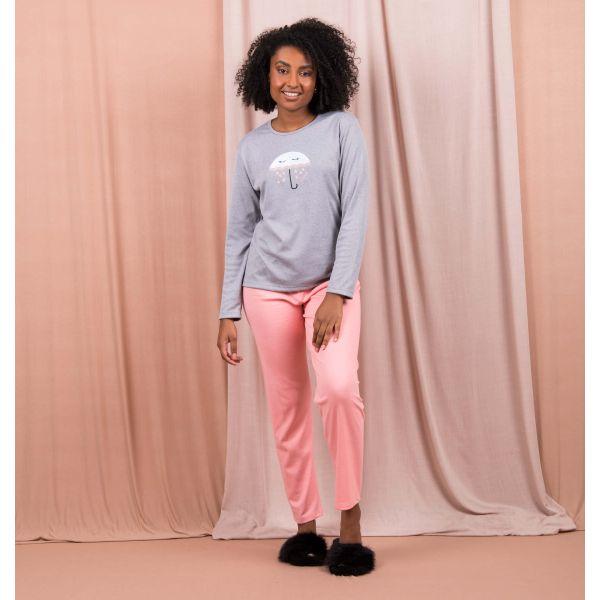 Conjunto Pijama Bordado Guarda-Chuva