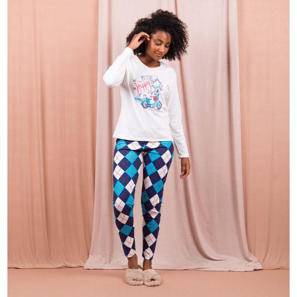 Conjunto Pijama Sweet Xadrez