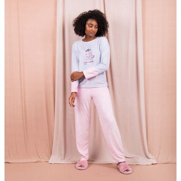 Conjunto Pijama Plush Coelho