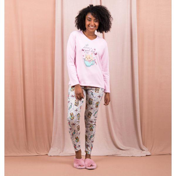 Conjunto Pijama Sweet Cat And Butterflies