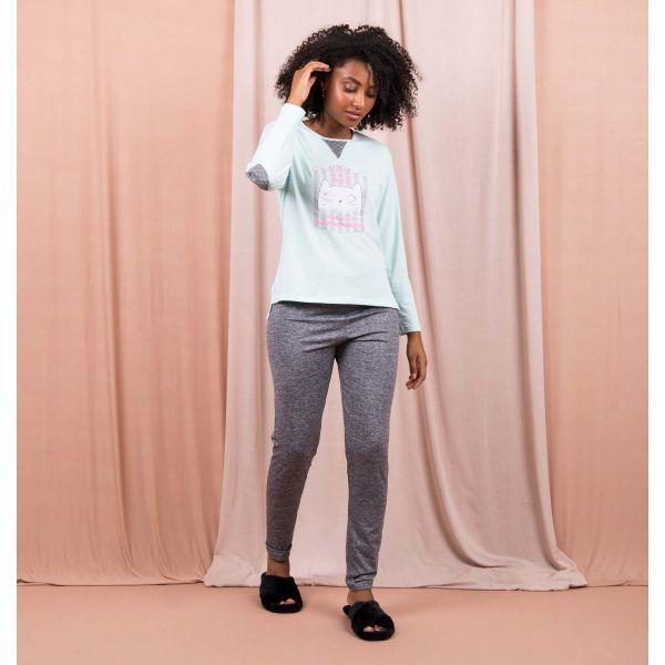 Conjunto Pijama Elegance Gatinho